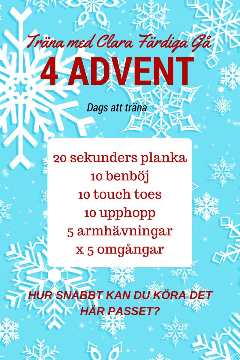 träna fjärde advent