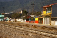 """tracks headed North, location for some of the scenes in """"Sin Nombre,"""" we crossed these tracks several times during our stay and saw groups of 2-5 migrants each time, waiting for the next train headed North. Orizaba, Mexico 