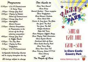 Party in the Park Programme
