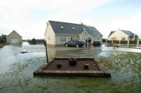 The O'Connor family home at Seafield, Quilty was flooded when the sea breached through resulting in the occupants of the house being rescued by the Coastguard early on Friday Morning. Photograph by John Kelly.