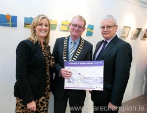 Pictured at the launch of the 10-Year blueprint for Kilkee are L-R Anne Haugh, Kilkee town manager; Paddy Collins, Kilkee Town Mayor and Tom Coughlan, county manager. Photograph by Arthur Ellis