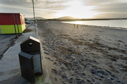 Tracht beach near Kinvara appears to have escaped the full wrath of the latest high seas and gales. Photograph by John Kelly.