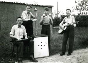 The Drifters: Bernard O'Loughlin, Tom Quinn (RIP), Gerry Bergin (RIP) and Tony Mulvey photographed  by Frankie Mulvey (RIP) in 1957.