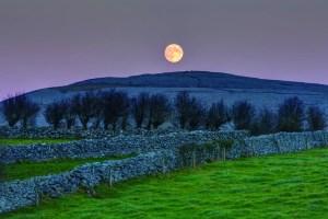 The Burren Full Moon. Photograph by Carsten Krieger.