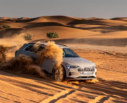We got the chance to really put the e-tron through its paces in the heart of the desert around Abu Dhabi.