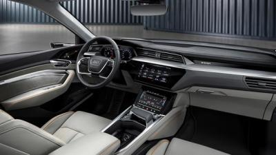 The interior of the e-tron is conventional but beautifully built.