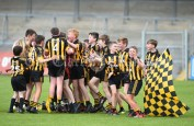 Ballyea lads celebrate their win over Inagh/Cloonanaha in their Schools Division 2 final at Cusack Park. Photograph by John Kelly