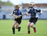 Susan Mc Grath of Kilkee/Kilbaha in action against Ciara Nolan of Bridgetown during their Munster Championship game at Walsh Park. Photograph by John Kelly