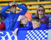 Disappointed Scoil Realt Na Mara, Kilkee/Moyasta NS fans as they witness a missed chance during their Division 3 LGFA Ladies Football Primary Schools final at Cusack park. Photograph by John Kelly
