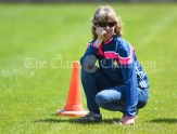 Aideen O Mahoney, Clare LGFA, looks on during their Division 3 LGFA Ladies Football Primary Schools final at Cusack park. Photograph by John Kelly