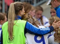 120619 Cratloes Katie Campbell consoles her players after the Camogie Division 2 final.Pic Arthur Ellis