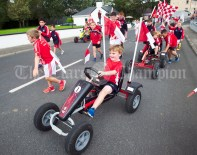 The young Shannon Gaels lads arrive in style during the annual parade as part of the Dan Furey Festival in Labasheeda. Photograph by John Kelly
