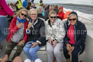 230819 L-R Sheila Gleeson, Rose Foudy, Mary Hogan and Fiona Burke during the RNLI fund raising cruise to the Cliffs of Moher and Inis Oir with Doolin2Aran Ferries Star of Doolin on Friday evening.Pic Arthur Ellis.