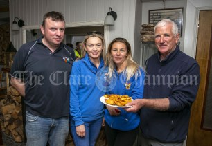 230819 L-R John Fitzgerald, Cathy Normoyle, Kristina Manolache and Joe Queally in The Inis Oir Hotel during the RNLI fund raising cruise to the Cliffs of Moher and Inis Oir with Doolin2Aran Ferries Star of Doolin on Friday evening.Pic Arthur Ellis.