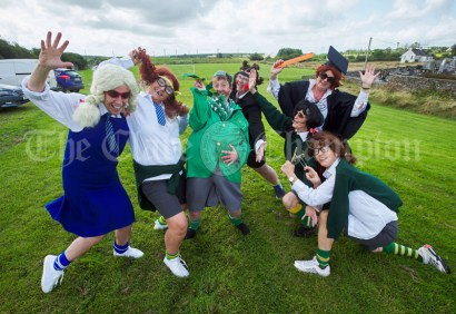 """The Kilmihil Women's Group pay tribute to """"Bottler"""" during the Cultural Parade as part of the annual Festival Of Fun in Kilmihil. Photograph by John Kelly"""