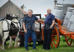 Michael Ryan and his brother-in-law PJ Murphy talk of times past during the Vintage Rally and field day as part of the annual Festival Of Fun in Kilmihil. Photograph by John Kelly