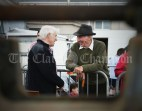 Patsy Cusack of Mallow chatting with Tom Slattery during the Vintage Rally and field day as part of the annual Festival Of Fun in Kilmihil. Photograph by John Kelly