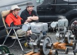 Tim Crowley and Gary Cusack of Cork displaying their stationary engines during the Vintage Rally and field day as part of the annual Festival Of Fun in Kilmihil. Photograph by John Kelly