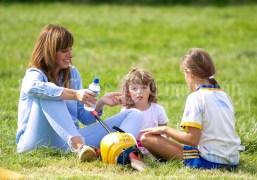 250819 Malwina Kisiel, Sixmilebridge, with Maja (4) and Hannah (9) at Kilmurry Festival Field Day on Sunday.Pic Arthur Ellis.