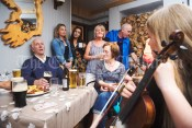 PJ Mc Mahon singing in a pub on Inisheer during the Romantic RNLI Cruise held in association with Bill O Brien's Doolin Ferry Company. Photograph by John Kelly