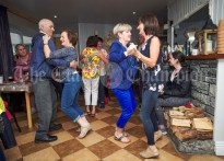 The light of foot take to the floor in a pub on Inisheer during the Romantic RNLI Cruise held in association with Bill O Brien's Doolin Ferry Company. Photograph by John Kelly