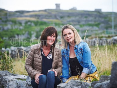 Frances Heagney, Ruan and Fiona Shortt of Feakle taking in the sights of Inisheer during the Romantic RNLI Cruise held in association with Bill O Brien's Doolin Ferry Company. Photograph by John Kelly