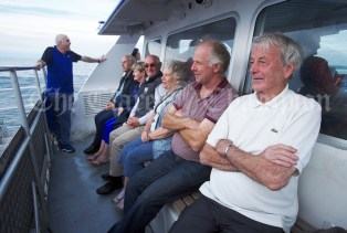 Thomas Burke, Pat Burke and fellow passengers making their way back from Inisheer during the Romantic RNLI Cruise held in association with Bill O Brien's Doolin Ferry Company. Photograph by John Kelly