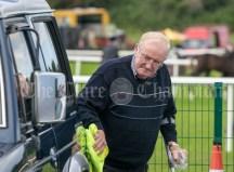 310819 Martin Moloney, Kilmaley, polishing his motor at Clarecastle Show on Saturday.Pic Arthur Ellis.
