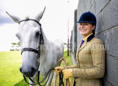 310819 Catherine Gorton with Marley at Clarecastle Show on Saturday.Pic Arthur Ellis.