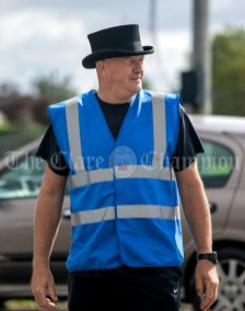 310819 Dave Hanrahan directing traffic at Clarecastle Show on Saturday.Pic Arthur Ellis.