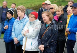 Participants listen to an address by Joe Queally before heading off on the Burren Ramble in aid of the RNLI at Fanore. Photograph by John Kelly