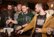 Sampling the entries in the home-brew competition at McHugh's, Parnell Street on Thursday evening as part of the Clare Food and Drink Fleadh.