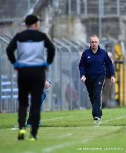 David O Brien, Miltown manager on the sideline during their senior football county final at Cusack Park. Photograph by John Kelly.