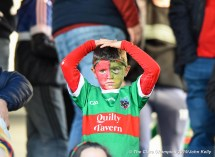 A disappointed young KIB supporter near the end of their senior football county final replay at Cusack Park. Photograph by John Kelly.