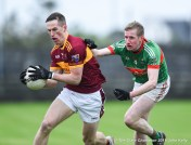 Eoin Cleary of Miltown in action against Liam Connolly of Rathgormack of during their Munster Club quarter final at Miltown. Photograph by John Kelly