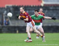 Gearoid Curtin of Miltown in action against Jason Gleeson of Rathgormack of during their Munster Club quarter final at Miltown. Photograph by John Kelly