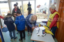 Volunteer Bernie Cahill taking registrations in the local school ahead of the Shades Of Autumn 10k walk in aid of the RNLI on bank Holiday Monday at Shragh. Photograph by John Kelly.