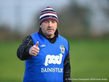 St. Breckan's manager Donie Garrihy before the Munster Club Intermediate final against Templenoe at Mallow. Photograph by John Kelly