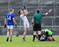 Padraig Kelly of St Breckan's is sent off on a black card during their Munster Club Intermediate final against Templenoe at Mallow. Photograph by John Kelly