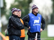 Donie Garrihy, manager of St Breckan's with fellow mentors Cathal Blood and Greg O Leary near the end of their Munster Club Intermediate final against Templenoe at Mallow. Photograph by John Kelly