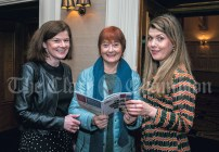 Bríd Hayes, Tulla, Nollag MacNamara, Ennis and Catherine O'Brien, Ennis, during the launch of the Ennis Book Club Festival at The Templegate Hotel on Thursday.Pic Arthur Ellis.