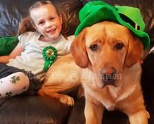 Emma Gleeson aged 6 and Murph Gleeson aged 1