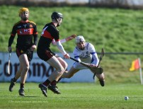 Killian O Connor of St Flannan's in action against Eoin Downey of CBC Cork during their Harty Cup final at Mallow. Photograph by John Kelly