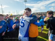 St Flannan's coach Brendan Bugler and Oisin O Donnell celebrate on the final whistle during their Harty Cup final against CBC Cork at Mallow. Photograph by John Kelly
