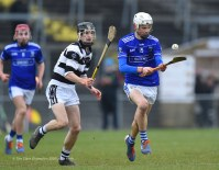 Oisin O Donnell of St Flannan's in action against Conor Kelly of St. Kieran's College Kilkenny during their Croke Cup quarter final at Mallow. Photograph by John Kelly