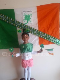 Harmony McConnell aged four celebrating St Patrick's Day