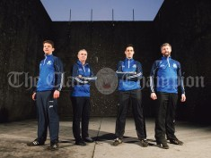 The management of the St Flannan's Harty Cup team; from left, Kevin O Grady, Michael Kelly, Brendan Bugler and Shane Mc Carthy. Photograph by John Kelly