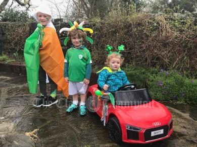 "Grand Marshall fashionista ""Boss Baby"" Bláithín Devitt, followed by international Republic of Ireland soccer player Gearóid ""Shane Long"" Devitt and the amazing World renowned , World Champion Hannah ""Katie Taylor "" Devitt"