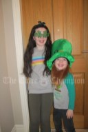 Lucy and Patrick Casey celebrating St Patricks Day at home in Kildysart