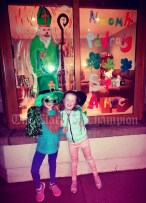Sophie and Aimee Lou O'Connor, standing in front of their artwork at their home in Tulla